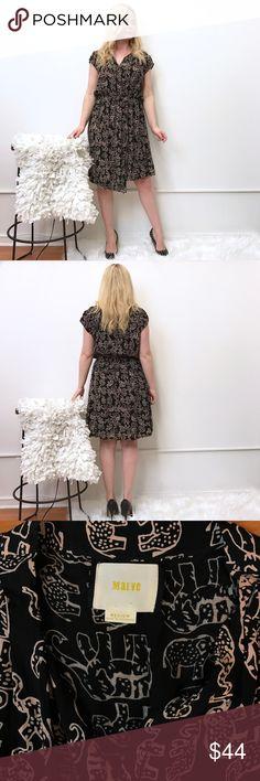Anthropologie Maeve M medium elephant  print dress Anthropologie Maeve elephant print dress. Sz M . Great condition. Anthropologie Dresses