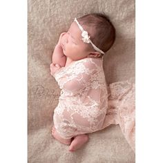 Baby Wrap and Tieback Newborn Headband Stretch by BabyGraceHats