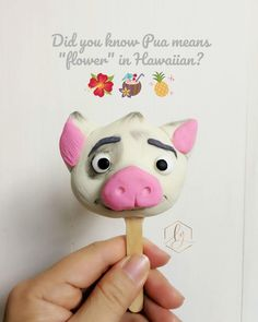 Cakesicle - Pua from Moana Cake Decorating Piping, Cake Decorating Videos, Buttercream Techniques, Magnum Paleta, Buttercream Wedding Cake, Moana Birthday, Ice Pops, Cakes For Boys, Cake Pop