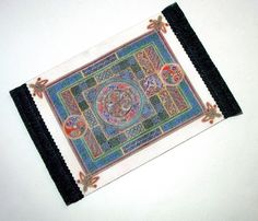 Medieval Celtic Rug Dollhouse Miniature 1/12 Scale by CalicoJewels, $17.00