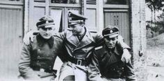 WWII tank ace Michael Wittmann and two members of his Tiger crew
