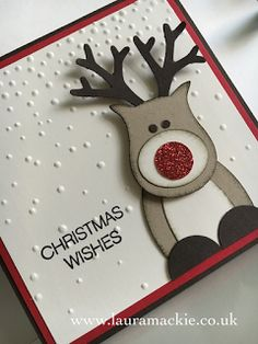 Stampin' Up! UK Demonstrator Laura Mackie: Stampin' Up! Christmas Stamp a Stack Homemade Christmas Cards, Stampin Up Christmas, Christmas Cards To Make, Handmade Christmas, Homemade Cards, Holiday Cards, Christmas Diy, Reindeer Christmas, Funny Christmas