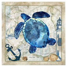 Nautical Turtle Canvas Print - $24.95 - Joss & Main - NAUTICAL BABY ROOM