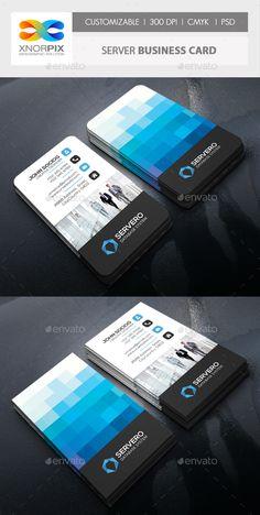 Server Business Card Template PSD