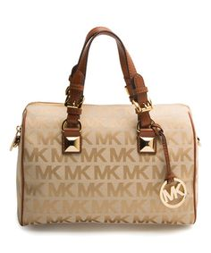 Another great find on #zulily! Beige & Luggage Logo Grayson Satchel #zulilyfinds