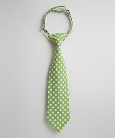 Take a look at this Green & White Polka Dot Tie on zulily today!