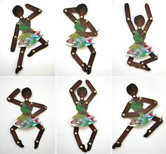 Dançarina feita com paus de gelado em:  http://laitfraisemag.fr/2012/03/diy-une-danseuse-en-carton/  dancer