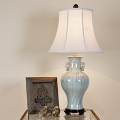 Spa Blue Art Vase Table Lamp