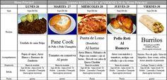 Menú Principal Comedor Escolar del 26 al 30 de Enero de 2015