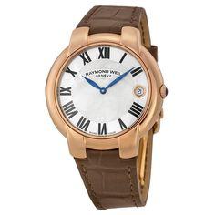Raymond Weil Women's 5235-PC5-01659 Jasmine Brown Leather Watch