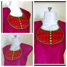 Latest Pot Neck Design with Piping on Churidar / Kurti - Very Easy Cutting and Stitching Chudithar Neck Designs, Chudidhar Designs, Neck Designs For Suits, Neckline Designs, Designs For Dresses, Blouse Neck Designs, Hand Designs, Salwar Neck Patterns, Neck Patterns For Kurtis