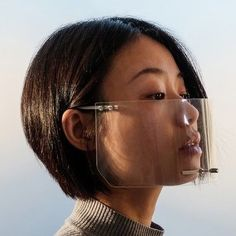 Transparent face shield elevates Coronavirus prevention into high fashion accessory - Vintage Furniture Design, Sneeze Guard, Scotch Tape, Chip And Joanna Gaines, Project Based Learning, Bone Carving, New Perspective, Mask Design, Painting Techniques