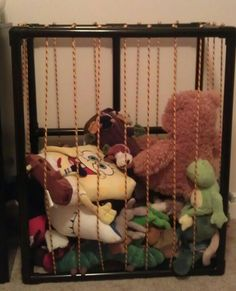 Quot Stuffed Animal Zoo Quot Made Out Of Pvc Pipe And