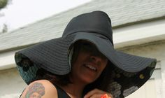 Whether you're beachside sipping mojitos or out shopping your local farmers market, you'll want to make and wear this season's Floppy Fedora Hat! Hat Patterns To Sew, Sewing Patterns Free, Free Pattern, Crochet Dishcloths, Crochet Hats, Sewing Hacks, Sewing Tutorials, Sewing Projects, Sewing Clothes