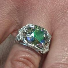 Paradise shine swarovski crystal prong ring by RegaliDesign