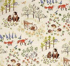 Forest Frolics Changing Pad Cover by by PrimalVogueHomeDecor