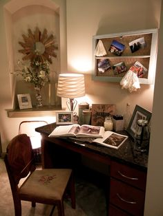 Jennifer B. Gables Sheridan. How cozy and productive! From the That's so pinteresting contest residential did. Just think, for all the short term relos out there, you can make your office look like this!