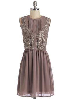 Transcendent Soiree Dress. Your celebration promises to be sublime with you as hostess arrayed in this diaphanous mauve dress. #gold #prom #modcloth