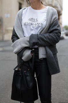 Workday Basics: Boyfriend Blazer & Leather Pants I More on viennawedekind.com