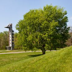 Tower design by Stanley Saitowitz, in Mill Race Park Architecture Foundation, Modern Architecture, Pump House, Miller Homes, Tower Design, Flood Zone, Building Companies, Christian Church, Public Art