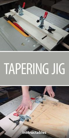 This jig is great for making angled cuts on a tablesaw! #workshop #woodworking #tools #tablesaw #bluehawkroutertable