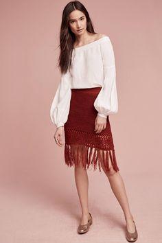 Slide View: 1: Fringeknit Skirt