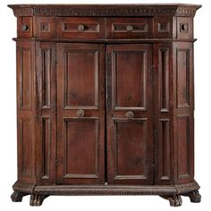 Italian Baroque Armoire Cabinet | From a unique collection of antique and modern wardrobes and armoires at https://www.1stdibs.com/furniture/storage-case-pieces/wardrobes-armoires/