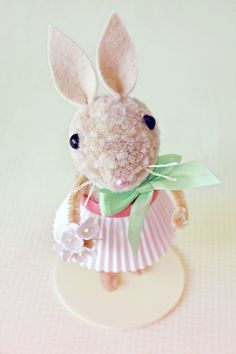 This little bunny is the same bunny as shown in the video part 1 and 2 already made up ... it's so cute in Pink!
