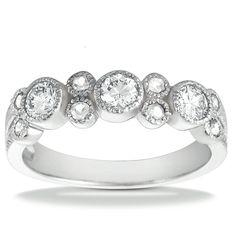 14KWG Diamond Wedding Band 0.65ctw  UNQ-WB2300