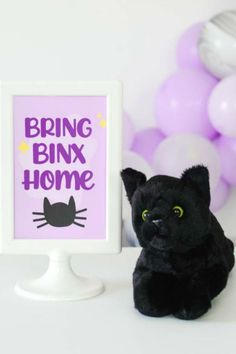 Check out this magical Hocus Pocus Halloween party! The black cat party favors are awesome! See more party ideas and share yours at CatchMyParty.com  #catchmyparty #partyideas #halloweenparty #hocuspocus #hocuspocusparty #halloween #halloweenpartyfavor Boy Party Favors, Halloween Party Favors, Baby Shower Favors, Halloween Treats, Halloween Decorations, Cat Party, Halloween Activities, Hocus Pocus, Girl Birthday