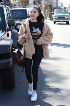 Madison Beer shopping on The Sunset Strip in LA