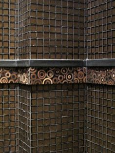 Stone & Pewter Accents - Kura Bamboo Tile - wall accent band...available at Facings of America, Inc. in the Arizona market.