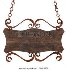 Find Old Wooden Sign On Chains Isolated stock images in HD and millions of other royalty-free stock photos, illustrations and vectors in the Shutterstock collection. Thousands of new, high-quality pictures added every day. Wooden Diy, Wooden Signs, Mural Cafe, Entrance Signage, Home Decor Catalogs, Blacksmith Projects, Antique Signs, Hanging Signs, Home Signs
