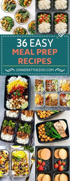 36 Easy Meal Prep Recipes for Breakfast, Lunch and Dinner