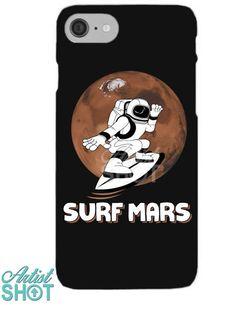 0e8a6662336 Custom Surf Mars Iphone Shell Case By Tshiart - Artistshot