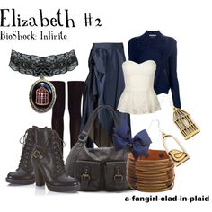 """""""Elizabeth #2 (BioShock Infinite)"""" by a-fangirl-clad-in-plaid on Polyvore"""
