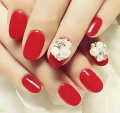 3D Red Nails...