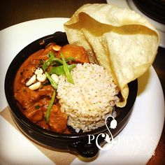 Massaman Beef Curry -Slow Cooked Beef, Chat Potato in Mild Coconut Sauce -w- Brown Rice, Pappadums & Peanuts (GF)
