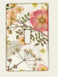 Switch Plate Pressed Flower Art by mypetalpress on Etsy, $9.00