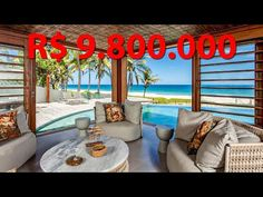 (10353) ❤️ Exclusiva mansão de SUPER alto padrão frente à praia no condomínio Interlagos - Hansen Imóveis - YouTube