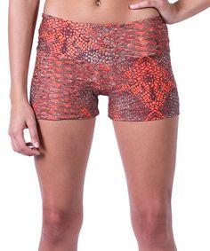 Orange Snakeskin Cire Shorts by Candida Maria US #zulily #zulilyfinds