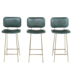 View this item and discover similar for sale at - Brass Framed Sculptural Bar stools with upholstered seat and back by Thomas Hayes Studio. Best Leather Sofa, Leather Bar Stools, Leather Chairs, Brass Bar Stools, Metal Chairs, Bar Chairs, Room Chairs, Pink Chairs, Office Chairs