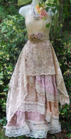 Reserved for Maddie depsoit for Boho wedding dress lace vintage romantic  custom by vintage opulence on Etsy 856f3fc9c5
