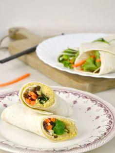 Wraps de hummus con verduras. Receta sana   Cuuking! Recetas de cocina