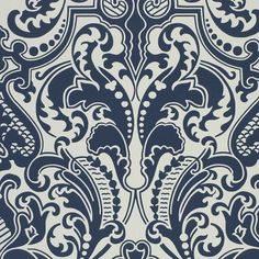 Gwynne Damask - Porcelain - Damasks - Wallcovering - Products - Ralph Lauren Home - RalphLaurenHome.com