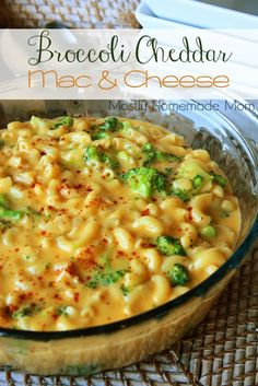 Broccoli Cheddar Mac & Cheese ~ his unique meat-free dish combines the flavors of traditional macaroni & cheese with broccoli cheddar soup