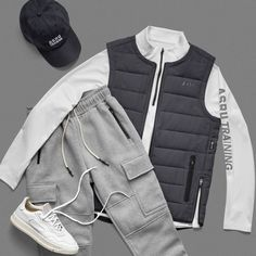 Kit Lab - ASRV Tomboy Outfits, Sport Outfits, Casual Outfits, Men Casual, Fashion Outfits, Fashion Bra, Fasion, Sport Fashion, Mens Fashion