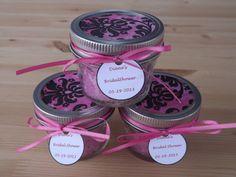 Set of 6- 4oz. Mason Jar Favors- Bridal Shower Jar Favors- Personalized Bridal Shower Favors- Wedding Jar Favors on Etsy, $23.00