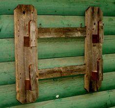 barn wood gun rack