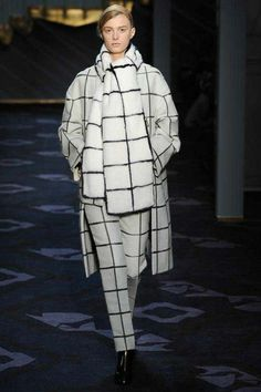 Black and white check at Fall catwalk